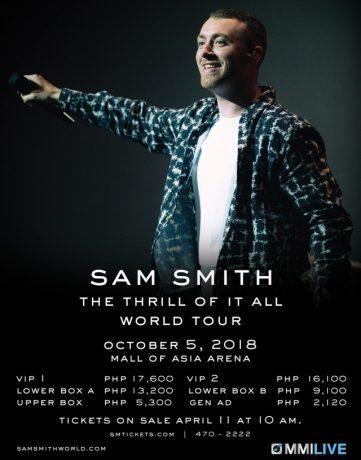 Sam Smith Live in Manila 2018
