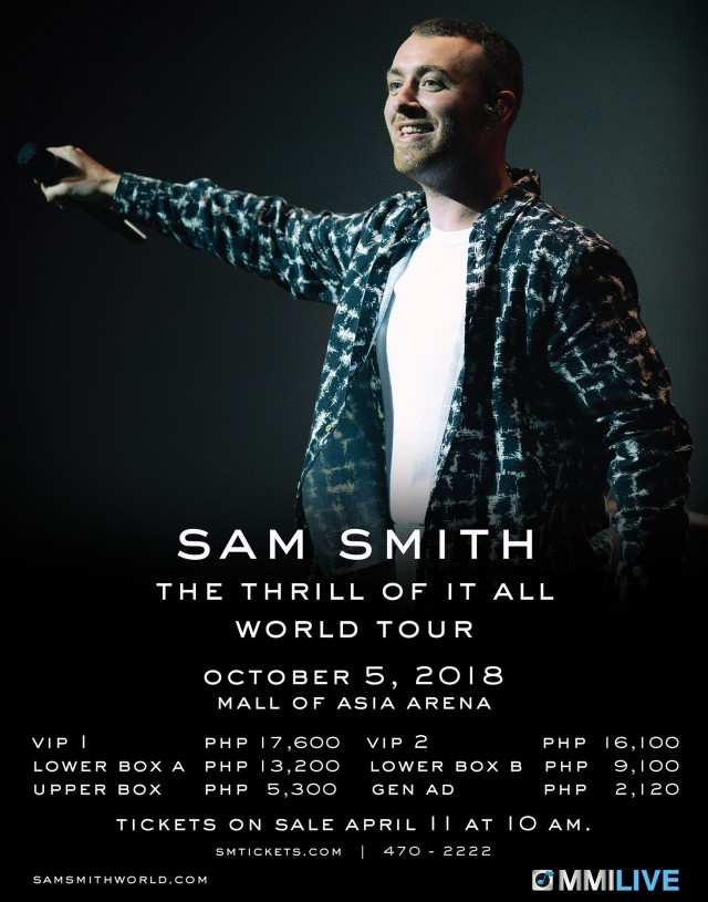 Sam Smith Live in Manila 2018