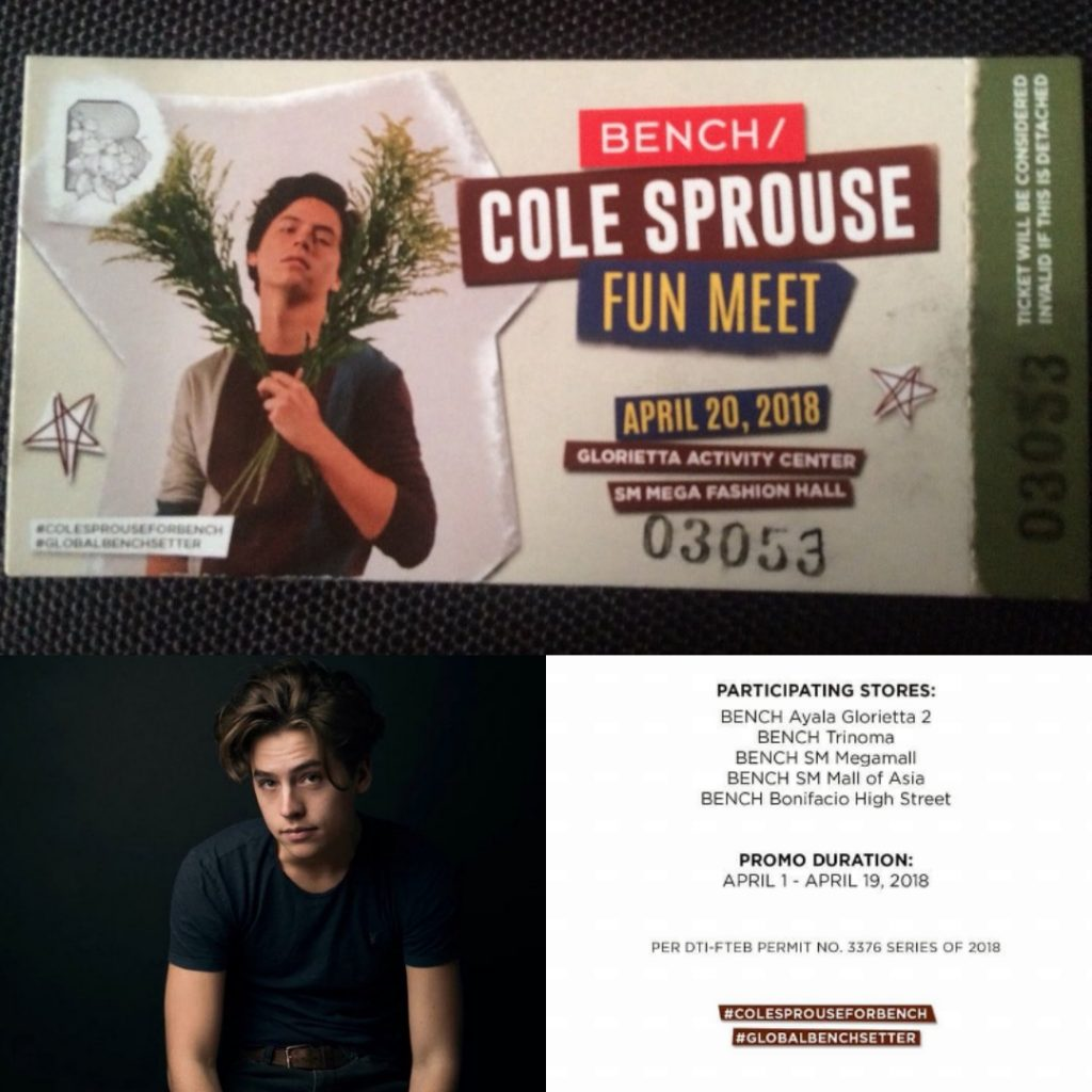 Cole sprouse coming to manila for bench philippine concerts riverdale star cole sprouse is finally coming manila on april 20 2018 m4hsunfo