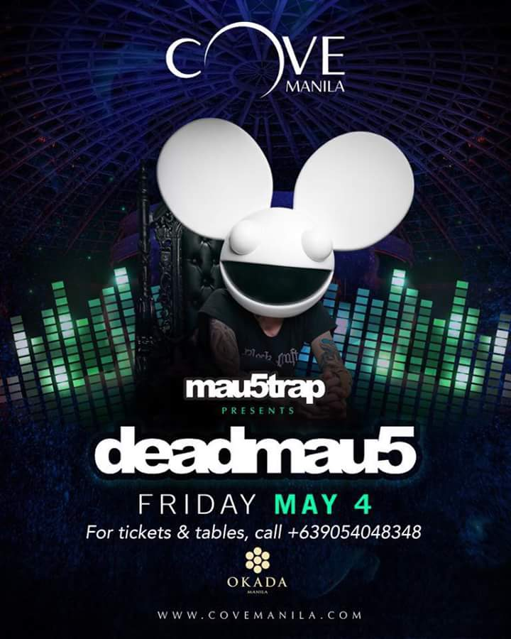 deadmau5 Set to Make Philippine Debut  at Cove Manila