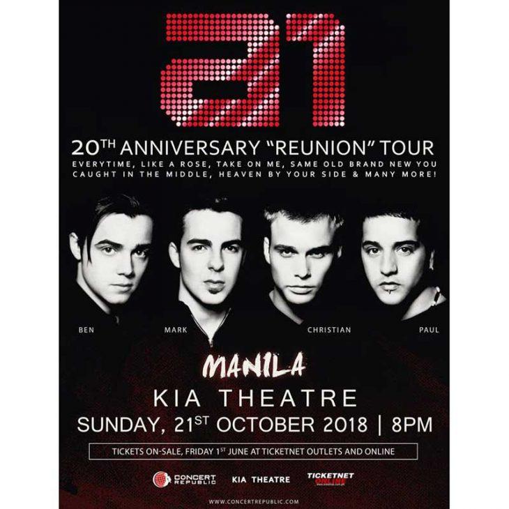 A1 Live in Manila and Cebu 2018