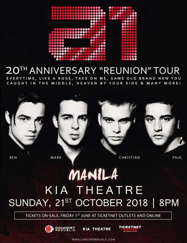A1 Live in Manila 2018
