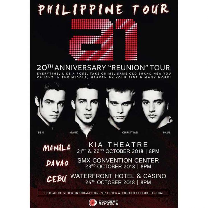 A1 Live in Manila, Davao and Cebu 2018