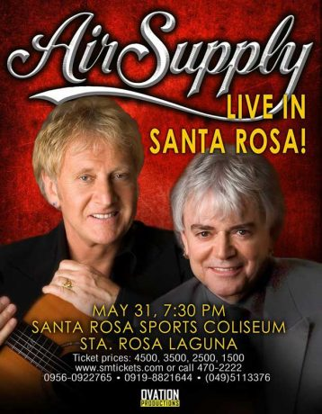 Air Supply Live in Sta Rosa