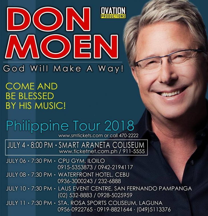 Don Moen Philippine Tour 2018