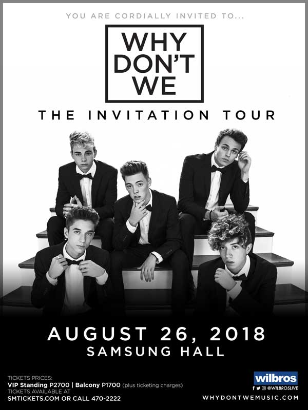 Why Don't We Live in Manila 2018