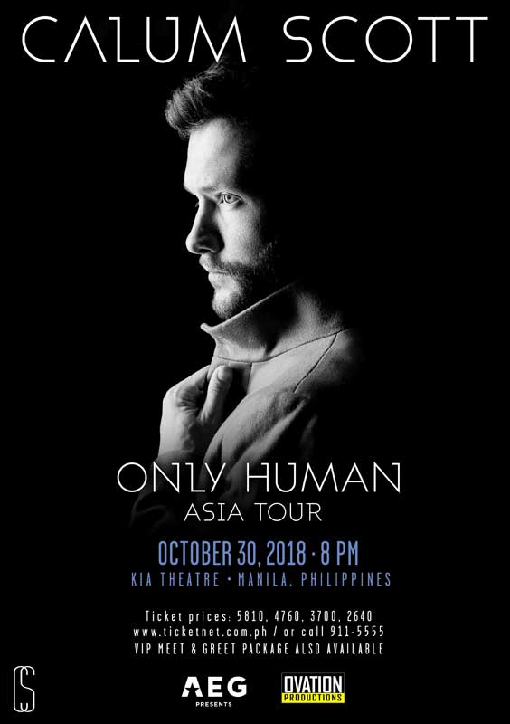 UK Crooner CALUM SCOTT's Only Human Asia Tour Happening in Manila!
