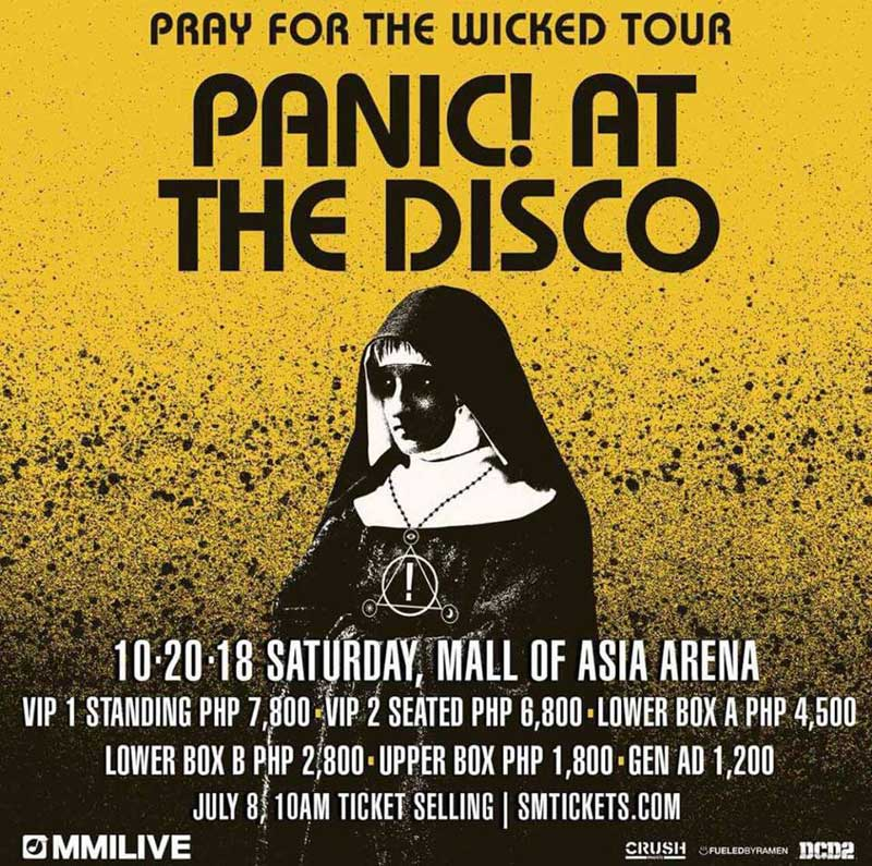 de97a9409 Panic! at the Disco Live in Manila 2018 | Philippine Concerts