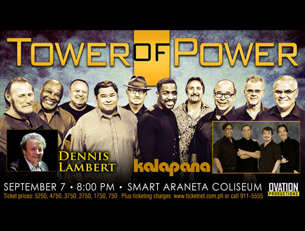 Tower of Power in Manila with Dennis Lambert and Kalapana