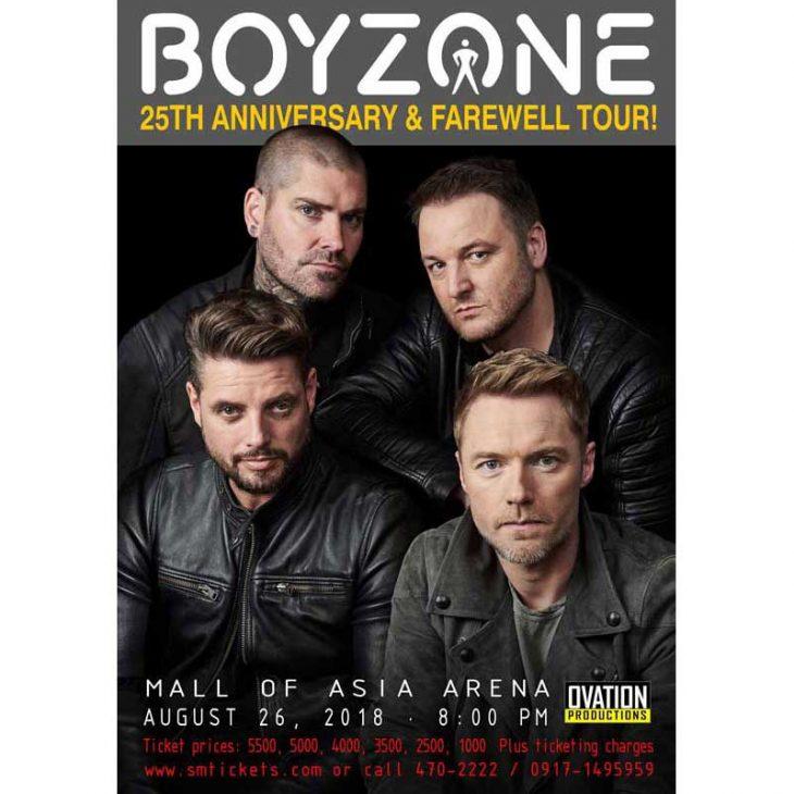 Boyzone Live in Manila 2018