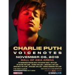 Charlie Puth Live in Manila 2018 Cancelled