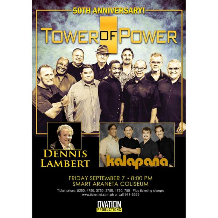 Tower of Power Live in Manila together with Dennis Lambert and Kalapana