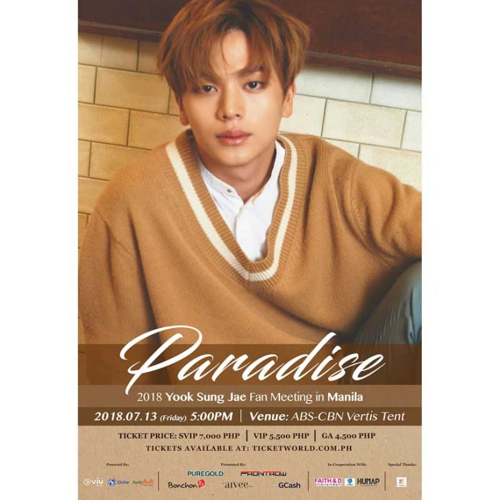 Paradise 2018 – Yook Sung Jae Fan Meeting in Manila