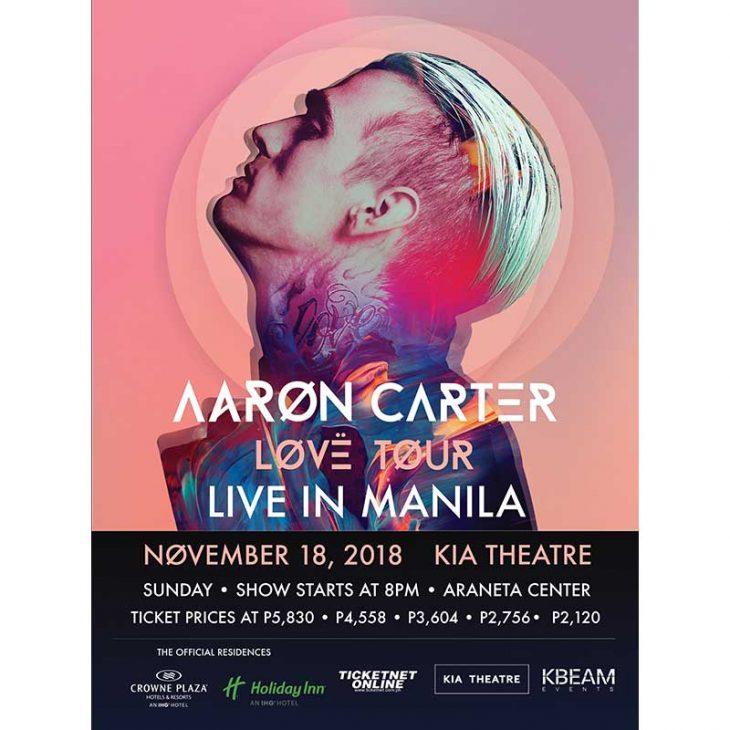 Aaron Carter Brings the LØVË Tour to Manila