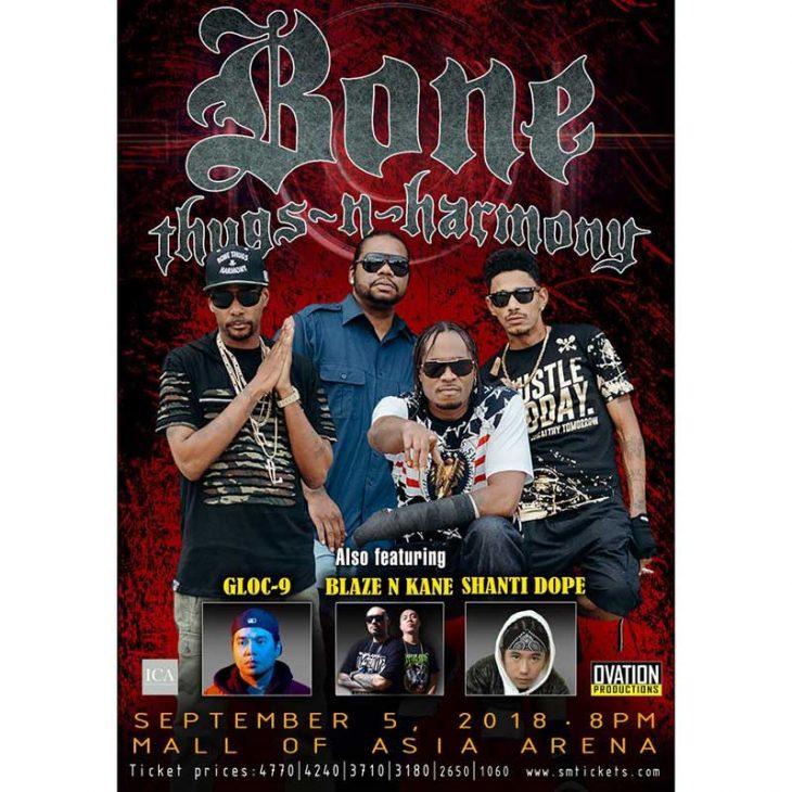 Bone Thugs-N-Harmony Live in Manila with Gloc-9, Shanti Dope and Blaze N' Kane