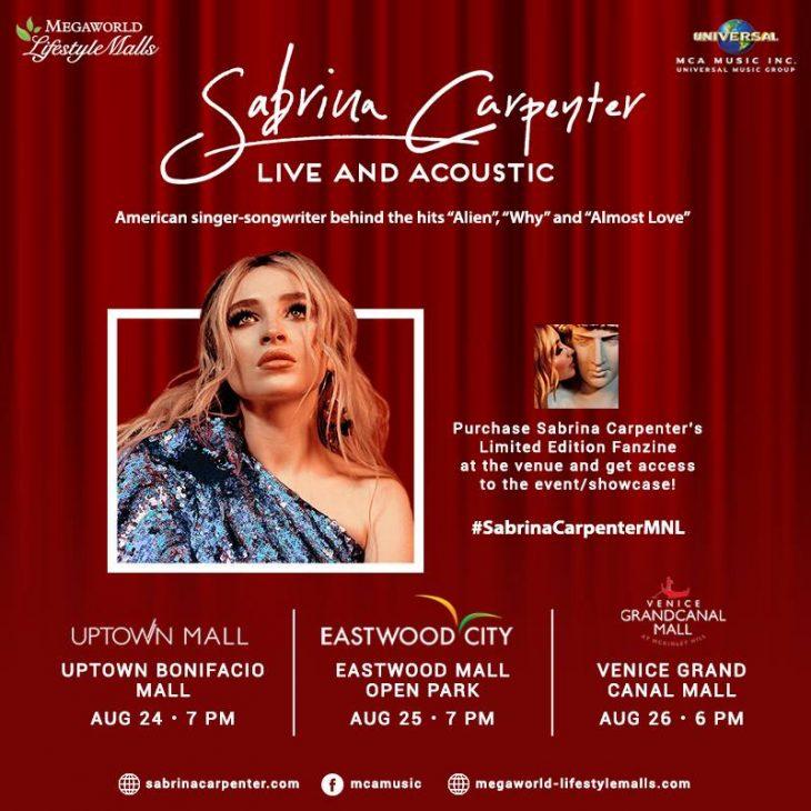 Sabrina Carpenter Live at Megaworld Lifestyle Malls