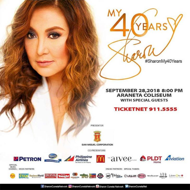 Sharon Cuneta My 40 Years Concert