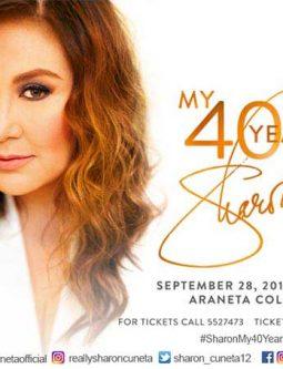 Sharon Cuneta My 40 Years Concert