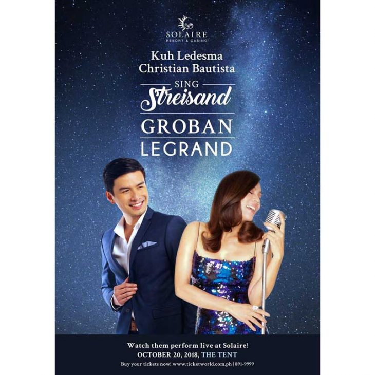 Kuh Ledesma and Christian Bautista  sings Streisand, Groban and Legrand