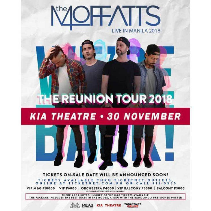 The Moffatts Live in Manila 2018