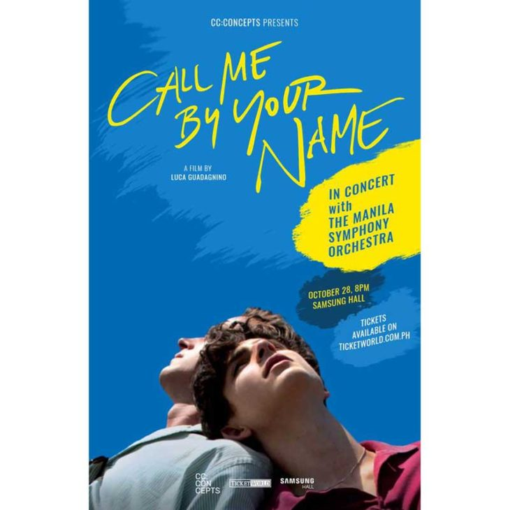 Call Me By Your Name In Concert  with The Manila Symphony Orchestra