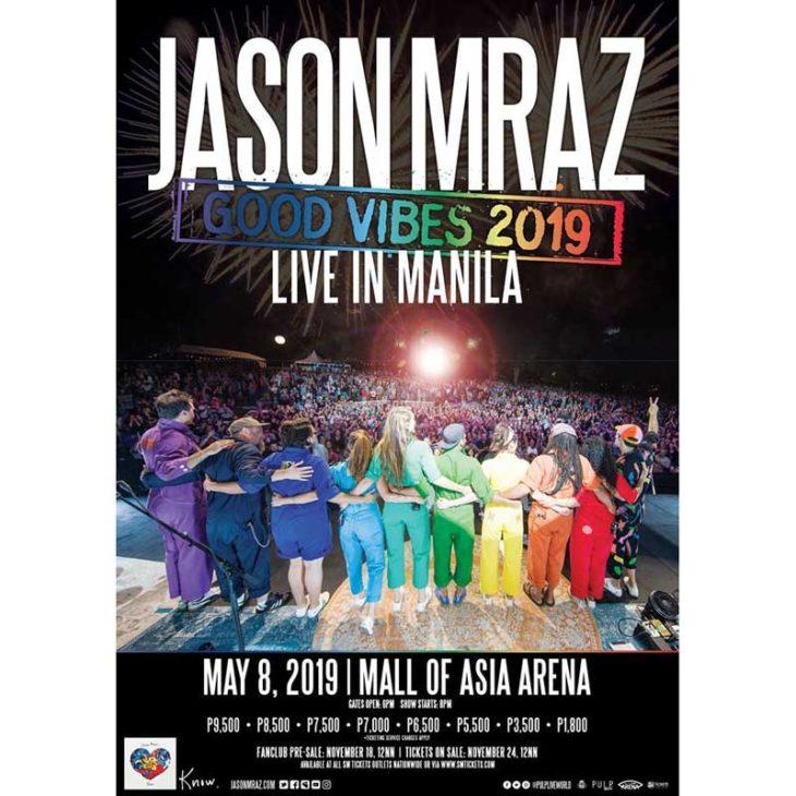 Jason Mraz Live in Manila 2019