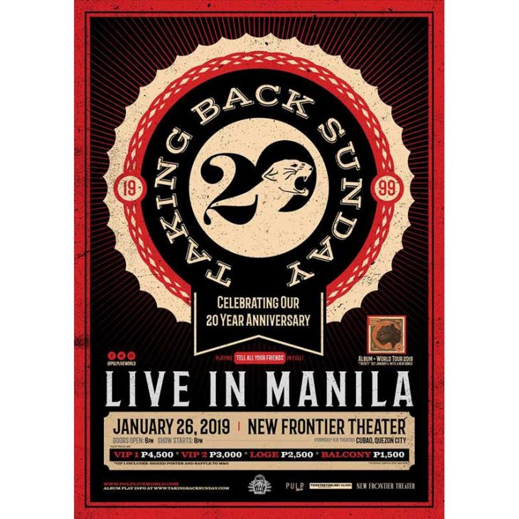 Taking Back Sunday Live in Manila 2019