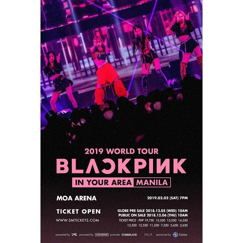 e0c2f78cf8b1 BLACKPINK Live in Manila 2019. Ticket Prices