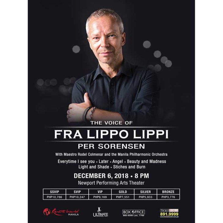 The Voice of Fra Lippo Lippi: Per Sorensen Live in Manila 2018