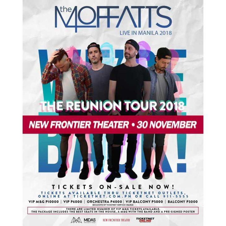 The Moffatts will return to Manila for their Reunion Tour