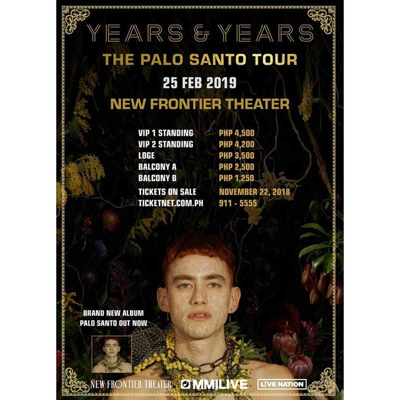 Years & Years Live in Manila 2019 Cancelled | Philippine ...