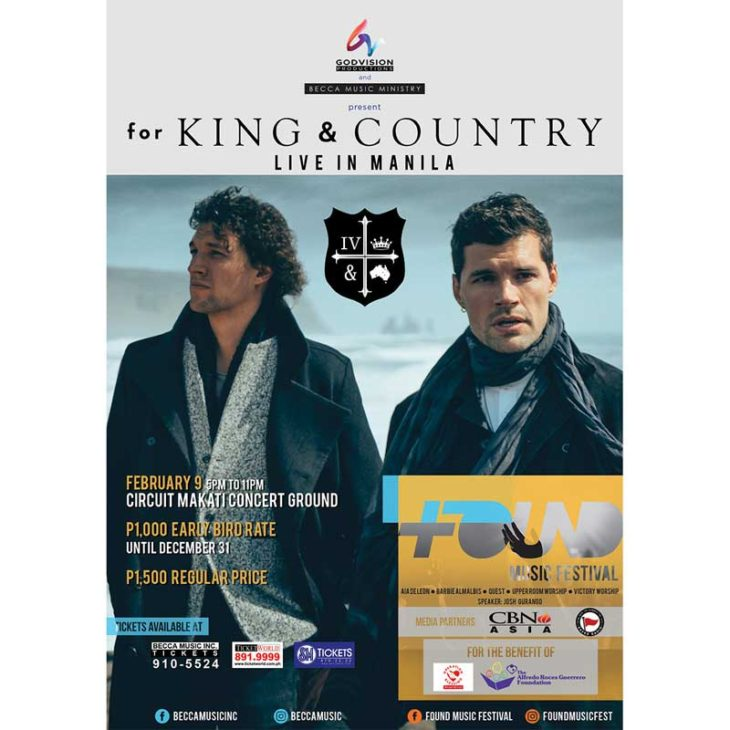 for KING and COUNTRY Live at Found Music Festival
