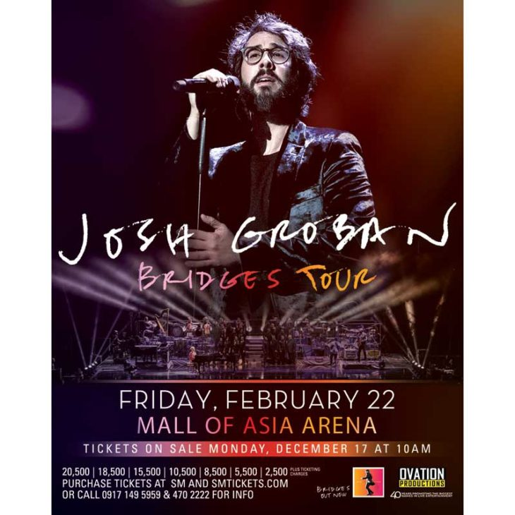 Josh Groban Live in Manila 2019