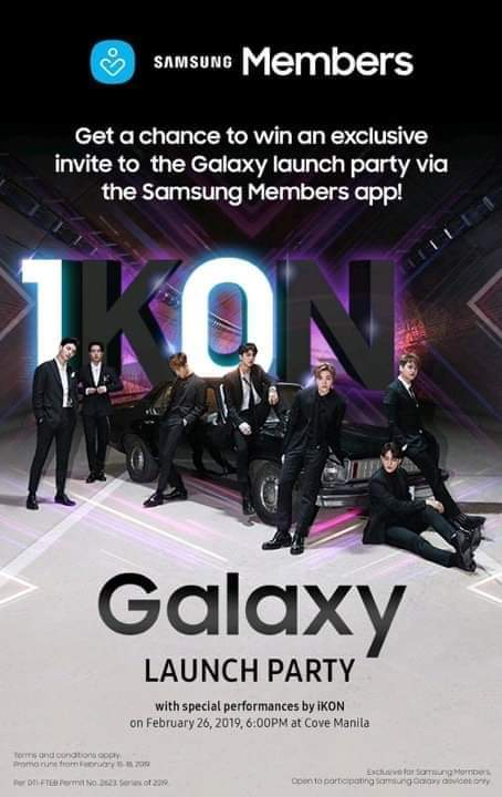 Samsung Galaxy Launch Party with iKon at Cove Manila