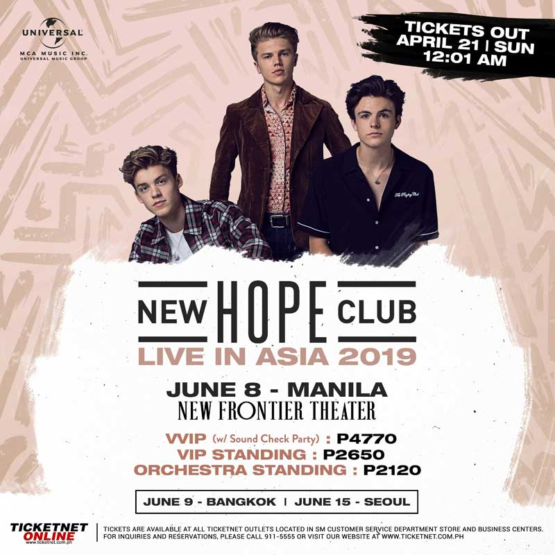 New Hope Club Live in Manila 2019 | Philippine Concerts