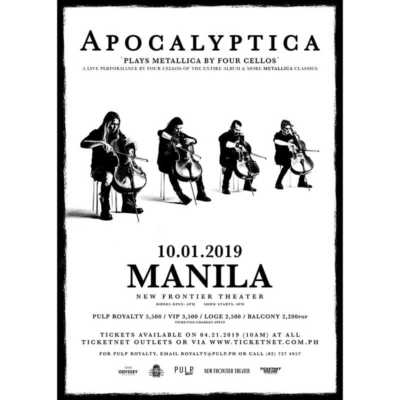 Apocalyptica 'Plays Metallica by Four Cellos' in Manila | Philippine