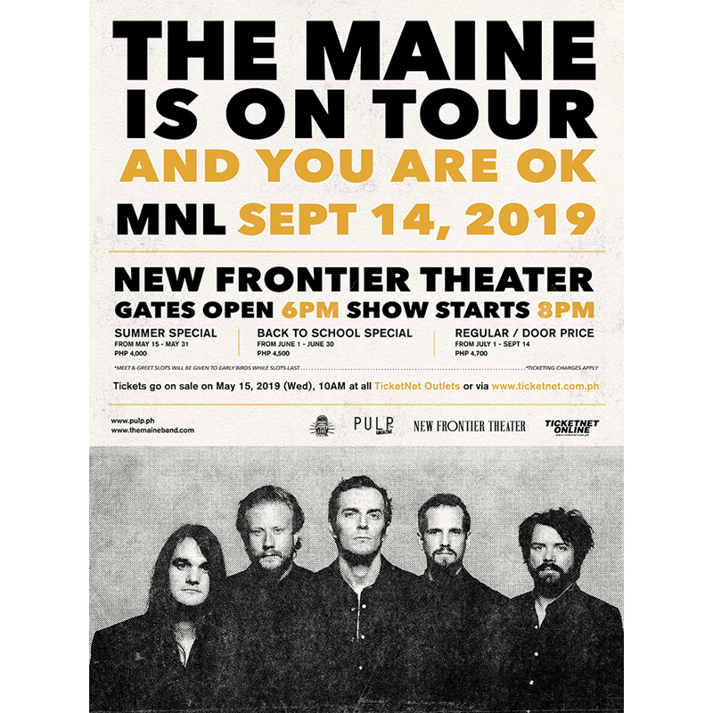 The Maine Live in Manila 2019 | Philippine Concerts