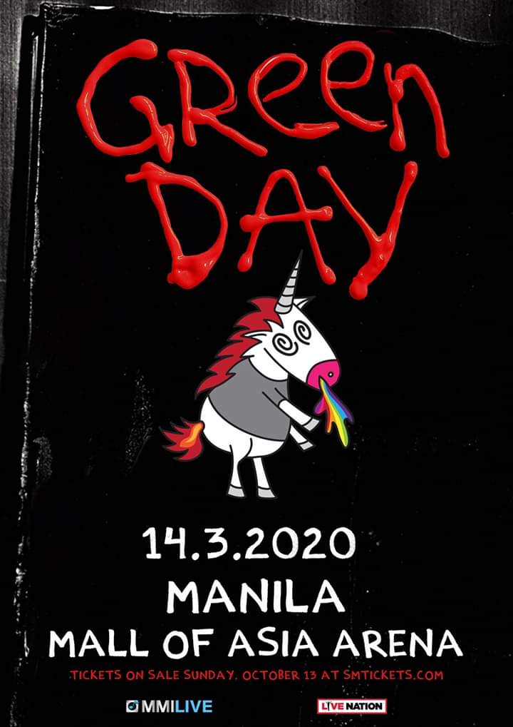Green Day Tour 2020.Green Day Live In Manila 2020 Philippine Concerts